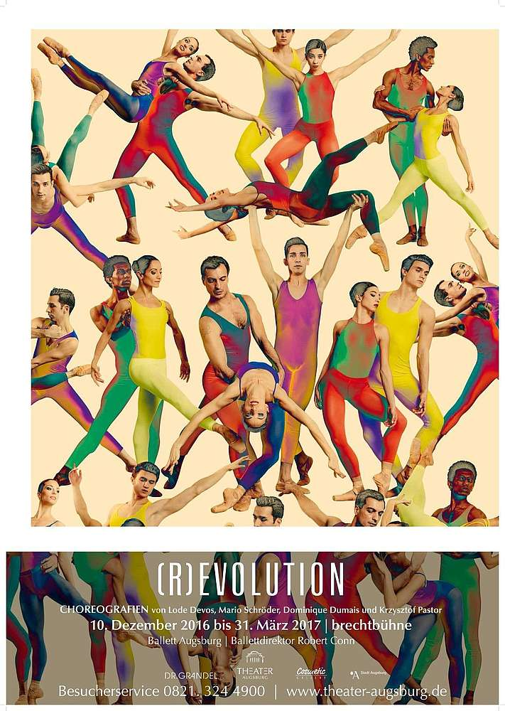 Poster for (R)evolution, Theatre Augsburg
