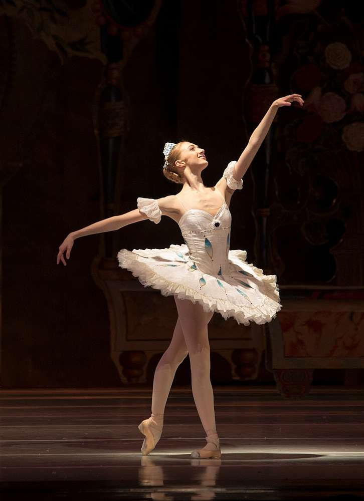 Melissa Abel onstage as Clara in The Nutcracker