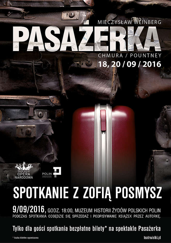 Poster advertising meeting with Zofia Posmysz on 9 Sept 2016