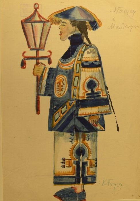 Costume designed by K. Frycz for a production of 'Mr Wu'